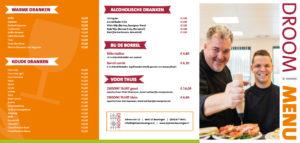 Menukaart DROOM! Beuningen 2019-01 - Vergaderruimte Nijmegen