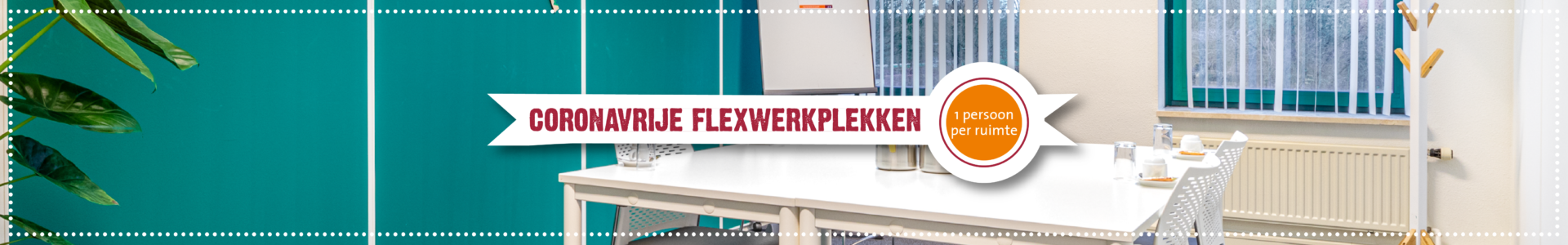 Coronavrije flexwerkplek header website